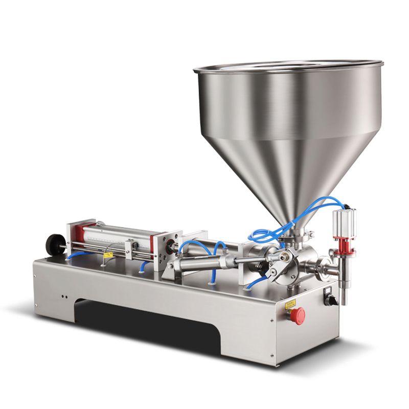 Machine de remplissage de pâte pneumatique pour la pâte de tomate sauce à la casse-cacahuelle sauce sauce au miel huile comestible huiler sauce sauce pâte machine de remplissage