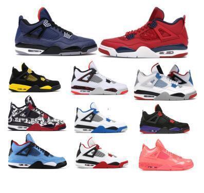 Jumpman 4 Hommes Chaussures de basket Qu'est-ce que le hiberné Loyal Noir Raptors Fiba Tattoo Toro Bravo Vol IV 4s 2020 New Baskets femme Chaussures de sport