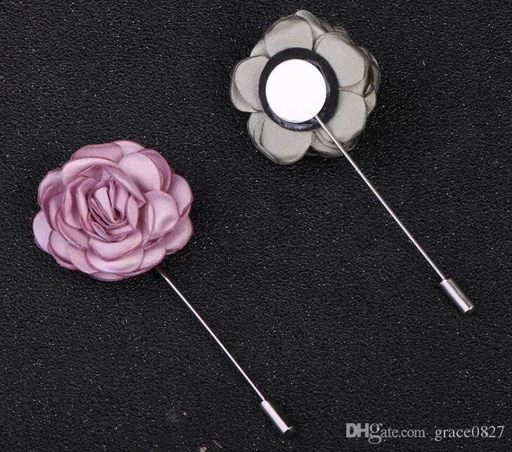 Women Camellia Flower For DIY Craft Brooch Pin Cloth Evening Dress Accessories