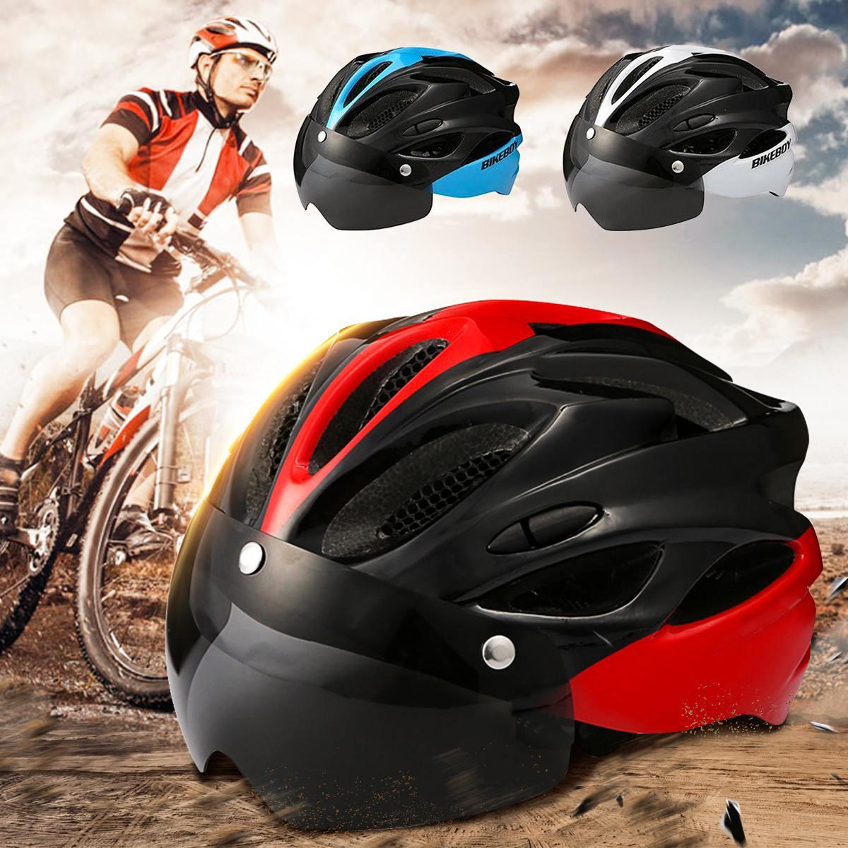 Ultralight Bike Cycling Helmet With Goggles For Men Women Bicycle Helmet MTB Lightweight Outdoor Sports Mountain Road