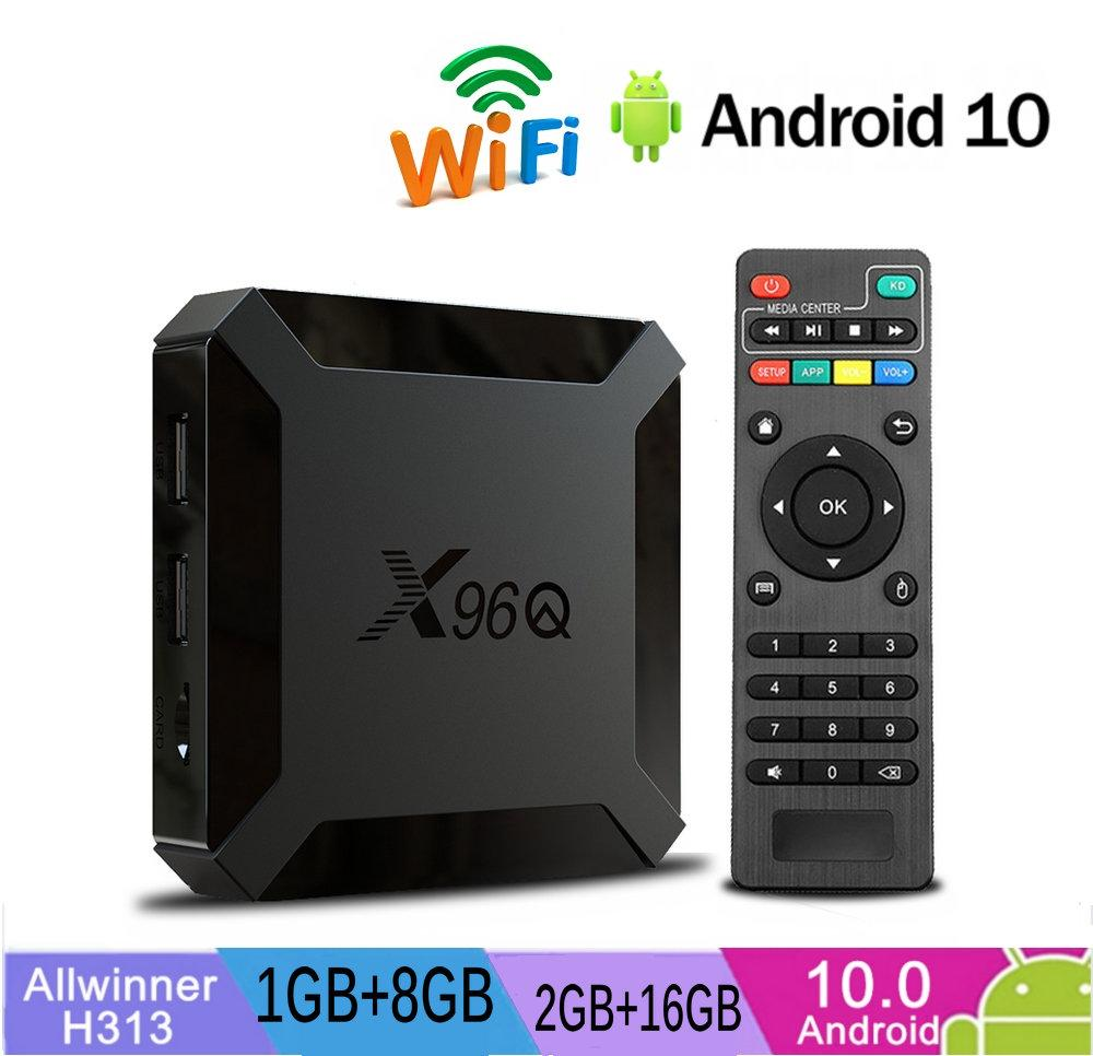 X96Q Allwinner H313 안드로이드는 10.0 TV 박스 2 기가 바이트 + 16기가바이트 무선 2.4G 쿼드 코어 카하는 TV 드 스마트 TV PK TX3 X96을 안드로이드