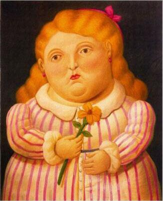 Fernando Botero fat girl on canvas Home Decor Handcrafts /HD Print Oil Painting On Canvas Wall Art Canvas Pictures 200206
