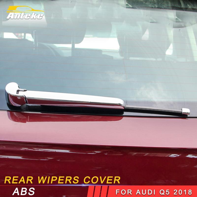 ABS Chromed Rear Window Windscreen Wiper Cover Trim For Audi Q5 2018