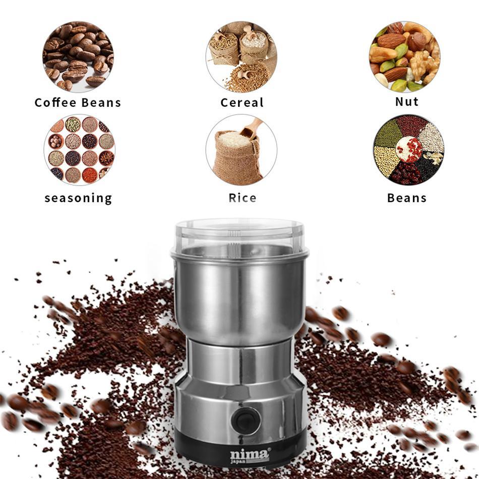 Feijão SEAAN Coffee Grinder Elétrica Mini Coffee Bean Nut moedor de café Multifuncional Início Coffe Máquina Cozinha Ferramenta Plug UE