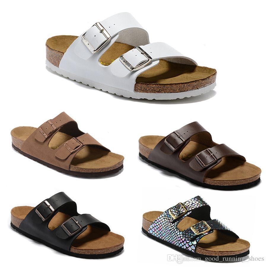 2019 Arizona nouvel été plage Cork Slipper tongs Sandales Femmes Mixte couleur Casual diapositives chaussures plat livraison gratuite pantoufle EUR 34-46