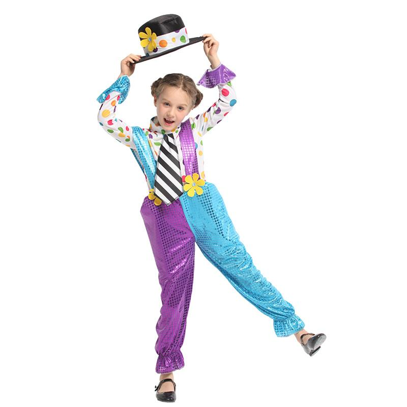 Theme Costume HUIHONSHE Kids Costumes Girls Funny Clown Role Play Outfit Children Party Masquerade Halloween Suit