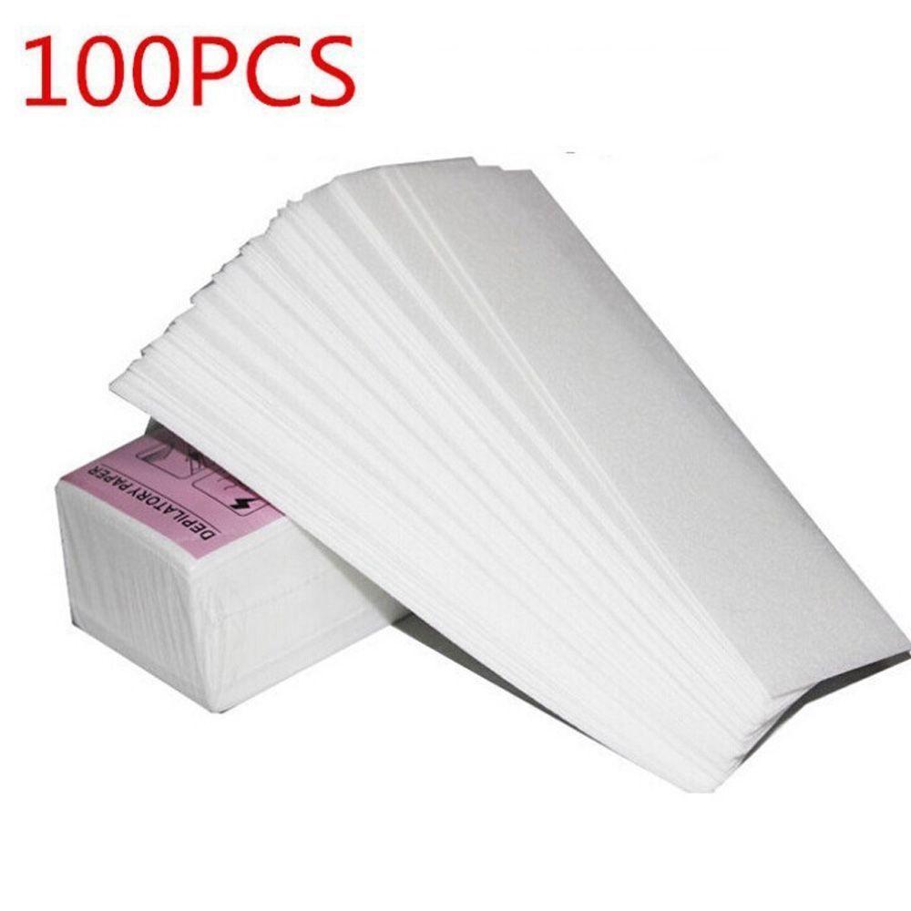 100шт восковые полоски бумаги ногу удаления волос депиляции воском ткани чистки nonwoven