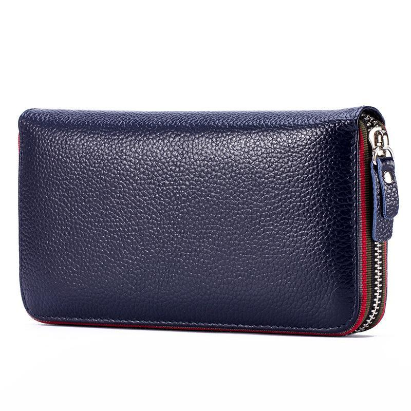 Long Women Wallet with Interior Moblie Female Large Purse Perse Carteira Woman Genuine Leather Card Money Bag Ladies Coin