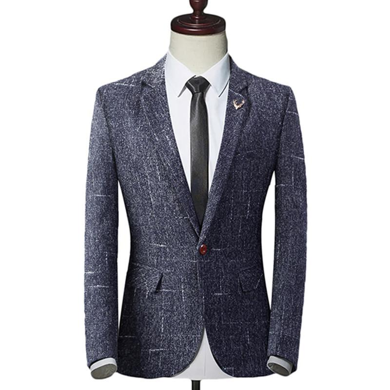 2018 Fashion New Men's Casual Boutique Business One Button Suit / Male Slim Blazer Jacket Coat Y191119 LY191225