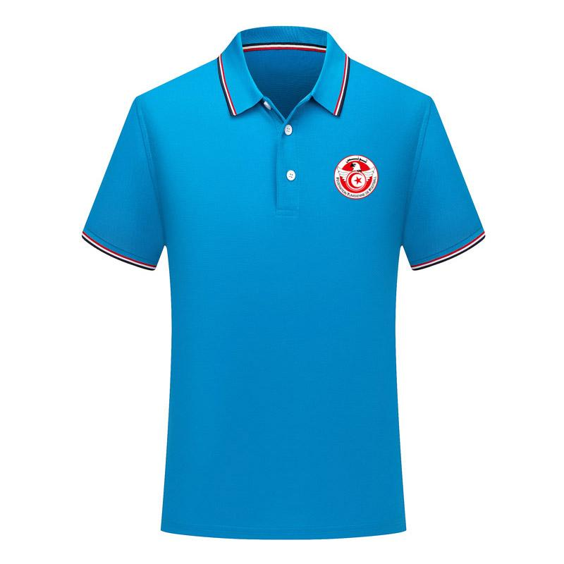 2020 Tunisie équipe nationale de football des hommes de Polo Sport football Polo été de football à manches courtes Polos Polos T-Shirt Maillots Hommes Polos