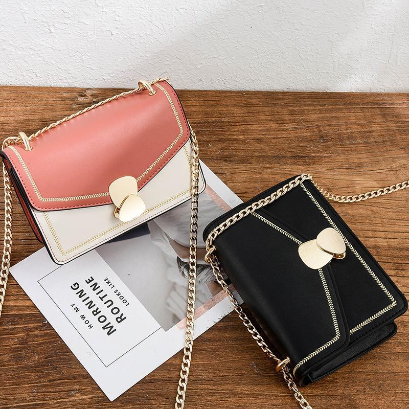 İngiliz moda küçük kare çanta, kadın giyim çanta, PU yüksek kaliteli deri 2019, cep telefonu omuz çantası