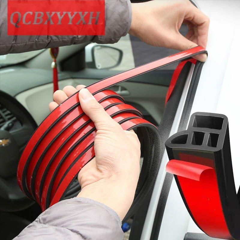 Auto-Tür-Gummi-Dichtung Streifen Auto Double-Layer-Sealing-Aufkleber für Tür-Trunk Schalldämmung Keder Innenausstattung