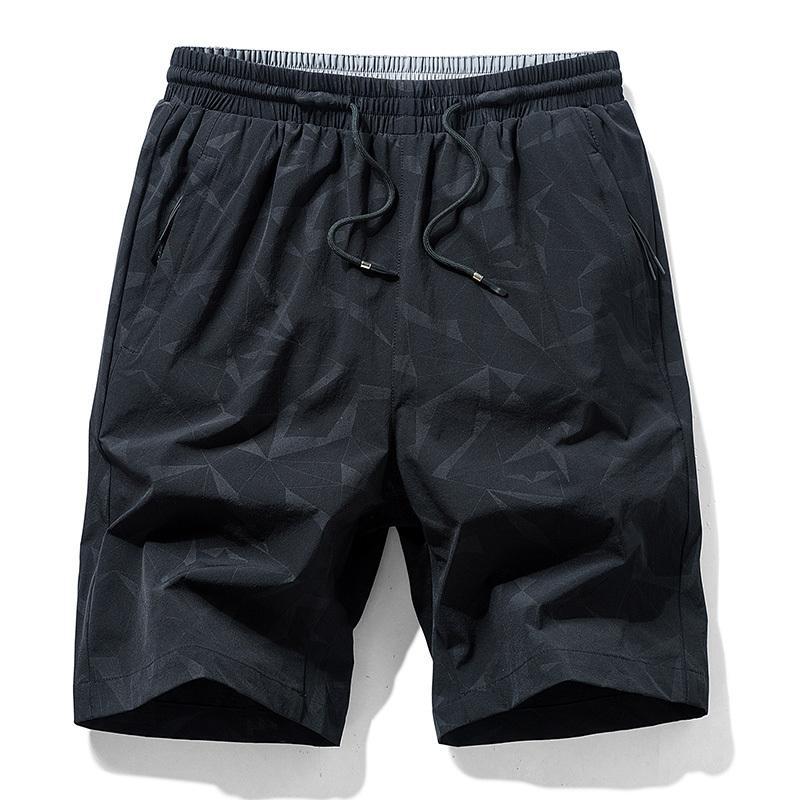 8XL Artı boyutu TFU Erkekler 2020 Yaz Yeni Casual Baskı Elastik Şort Erkekler Moda Gevşek Fit Kısa Pantolon Şort Erkekler BigTall Y200511 Cepler