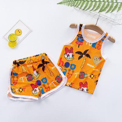 Çocuklar Tasarımcı Giyim Suits Erkekler Kızlar Moda İki parçalı Yaz Seti Karikatür Baskı Yelek + Şort Sevimli Casual Vest Seti Çocuk Suit