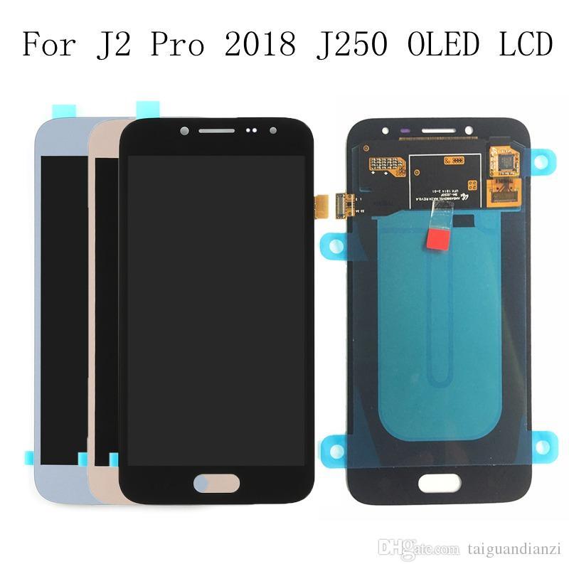 Super Amoled LCD por Samsung Galaxy J2 pro 2018 J250 J250F J250H LCD Pantalla táctil Digitalizador Asamblea LCD por J2 PRO 2018