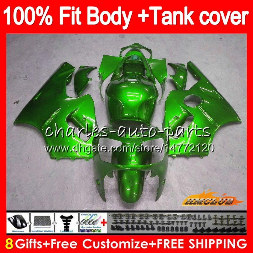 Iniezione per Kawasaki ZX 12R ZX1200 1200cc lucido ZX12R verde 02 03 04 05 06 52HC.57 ZX 12 R ZX12R 2002 2003 2004 2005 2006 OEM carenature