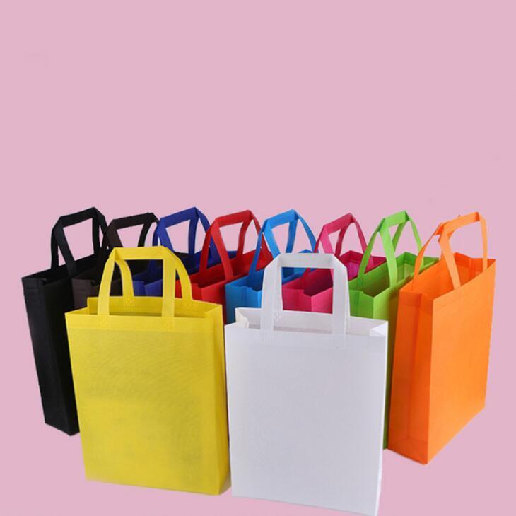 Neue bunte Falttasche Vliesstoff faltbare Einkaufstasche Wiederverwendbare Umweltfreundlich Falttasche Einkaufstasche neue Damen-Speicher-Beutel