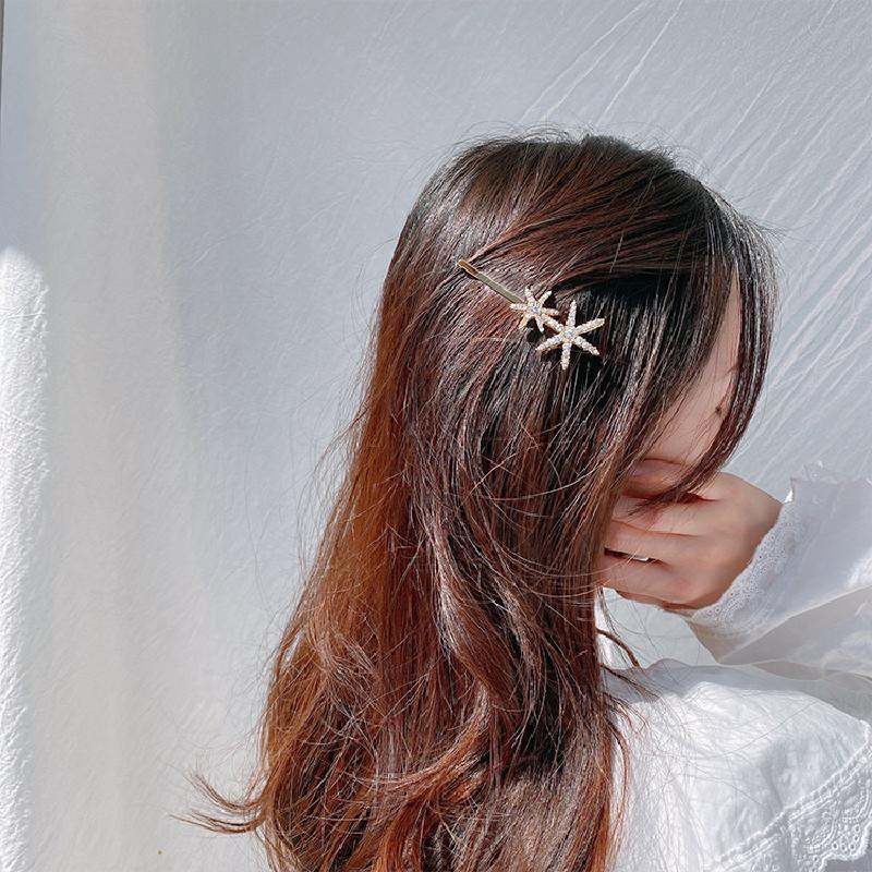 Drama Liebe Notlandung Xu Zhihui gleichen Stil Sechs-Sterne-Strass koreanischen Haar-Accessoires Liu am Meer Clip