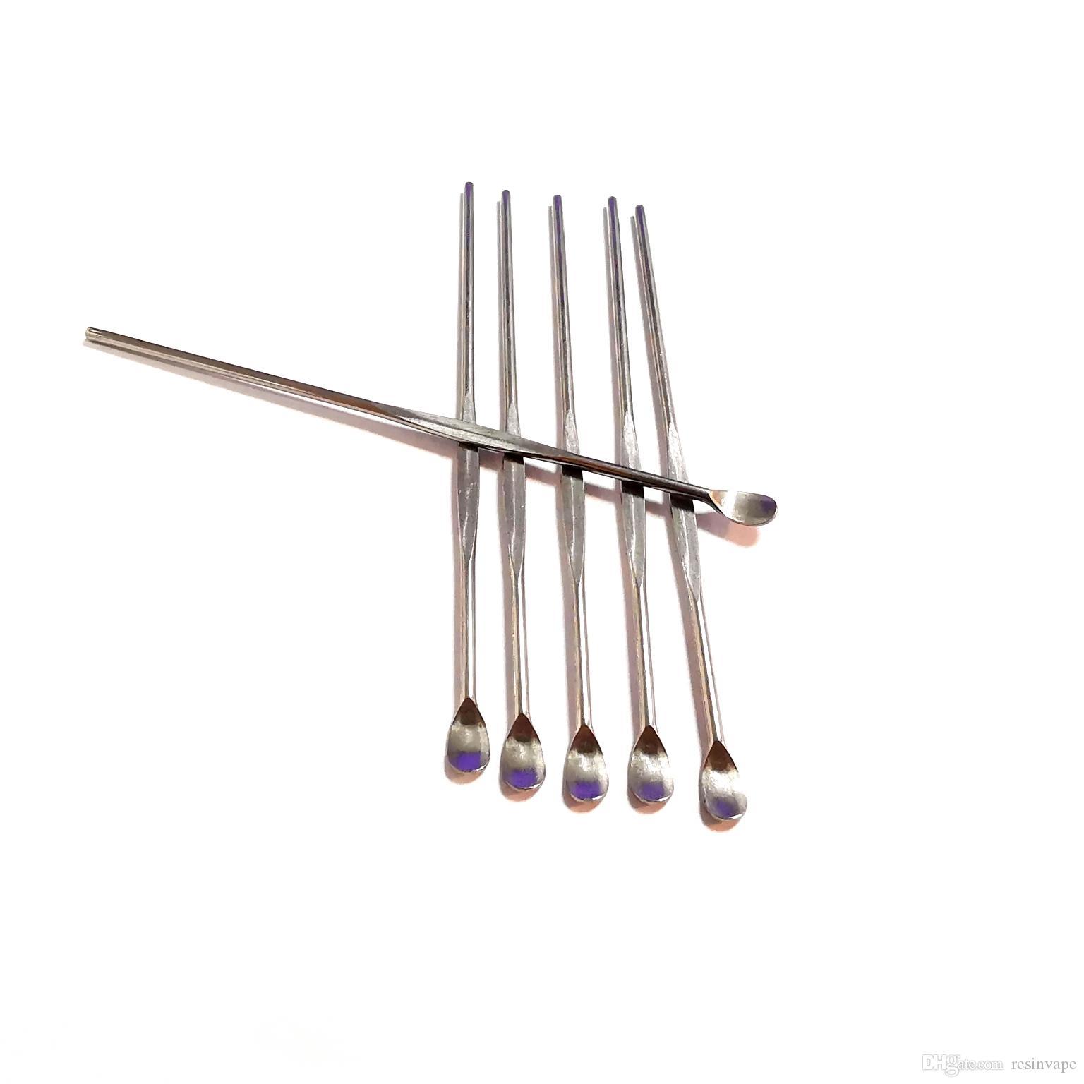 vape kalem silikon mat kap DHL Free kuru ot titanyum çivi için Ss 76mm DAB kavanoz sigara aracı atomizör balmumu gör dabber araçları