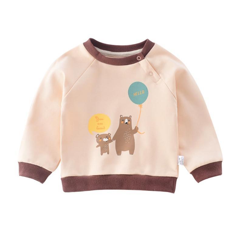 Baby Girl menino dos desenhos animados Doce Outono Crianças Imprimir camisolas casual Criança Blusa manga comprida Casacos