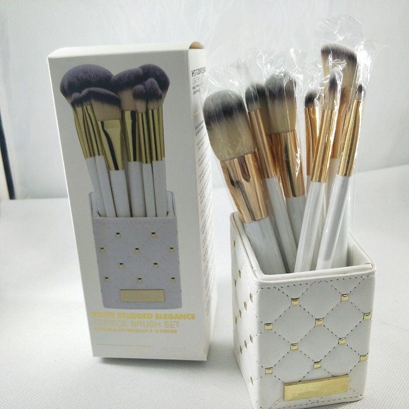Maquiagem Marca de alta qualidade escova da composição 13PCS / Set escova com PU Bag Escova Profissional para o pó Foundation Blush Eyeshadow