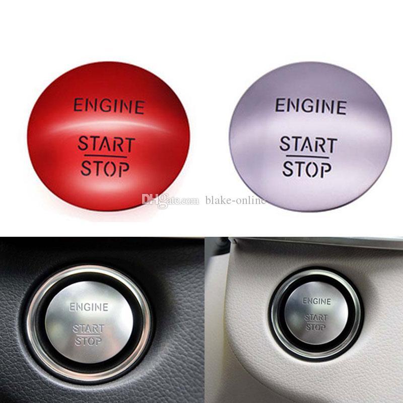 Mercedes Benz W164 W204 W205 W212 W221 Yedek Aksesuarlar için Universal Araç Anahtarsız git Başlatma Durdurma Düğmesi Motor Anahtarı