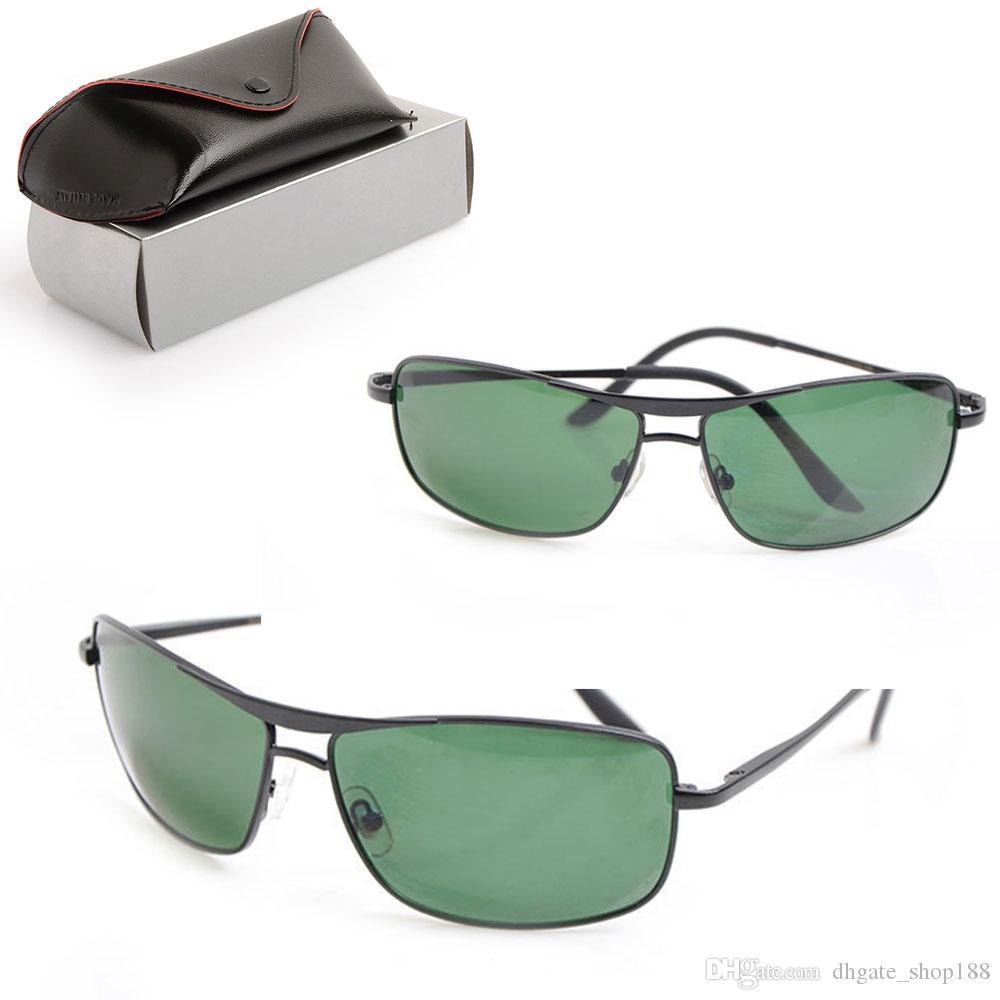 Classic Mens Sunglasses Brand Designer Sunglasses 8013 fashion Eyewear womens Sun glasses Glass Lens glasses Unisex Sun glasses with cases