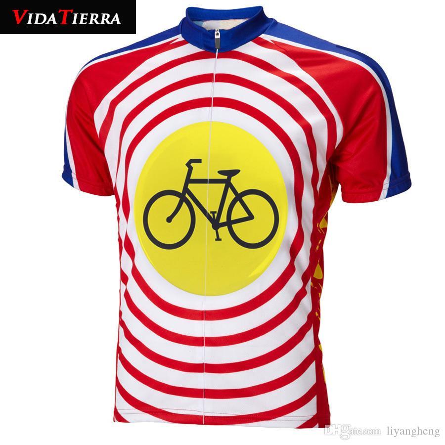 2019 hombres ciclismo jersey amarillo rojo azul Bullseye ciclismo ropa caricatura cuesta abajo Maillot ciclismo encantador gracioso suerte verano fresco