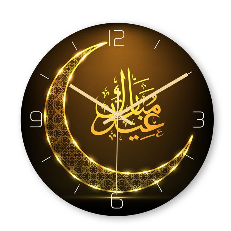 Muslim Pattern Wall Clock Modern Design 3D Silent Wall Watch Horloge Moderne Acrylic Reloj Mural Home Decoration