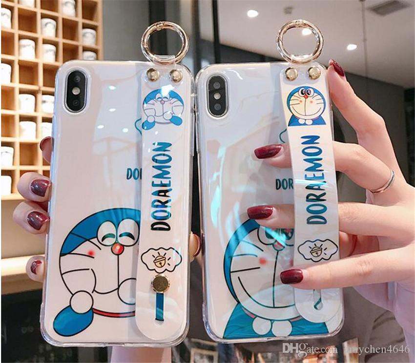 Phone Cases for iPhone 11 Max 7 8S Plus Note10 9 S10 Soft TPU Silicone Case Anti Slip Leather Texture Cover with Strap