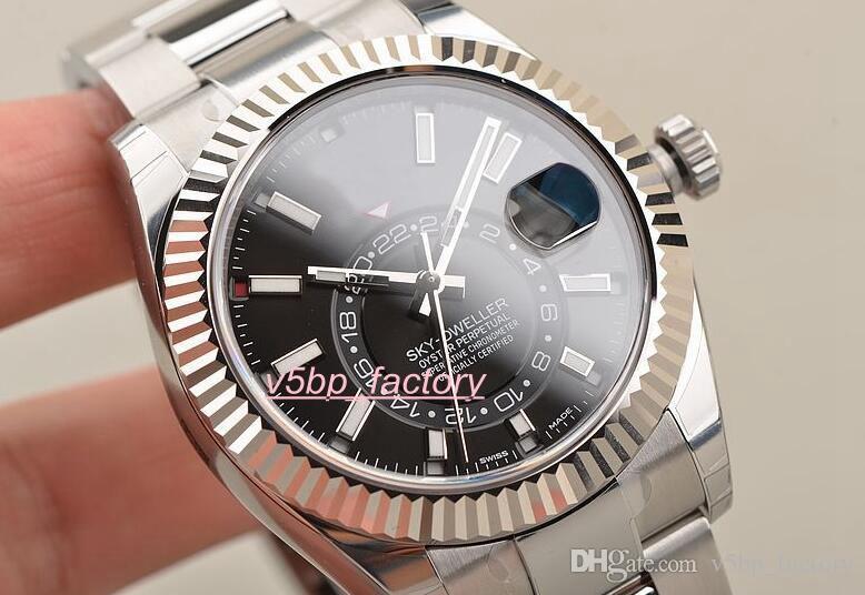 Die neueste Version Armbanduhr Sapphire Automatic 42mm Uhrenring 326934 schwarzes Zifferblatt Edelstahl Herren Automatik Herrenuhr Watche