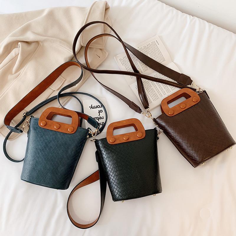 borsa per le donne del sacchetto delle donne 2019 nuova moda retrò rientro benna portatile spalle Colore Joker diagonale