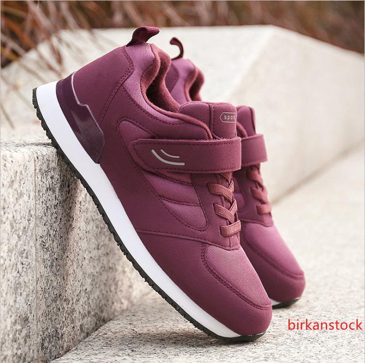Anti Slip de edad media al aire libre cómodos zapatos de la zapatilla de deporte casuales de edad avanzada