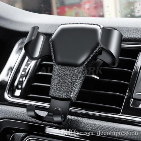 Soporte universal del teléfono del coche Soporte de ventilación de aire Soporte para teléfono En el coche Sin soporte magnético Soporte para teléfono móvil con paquete al por menor venta caliente