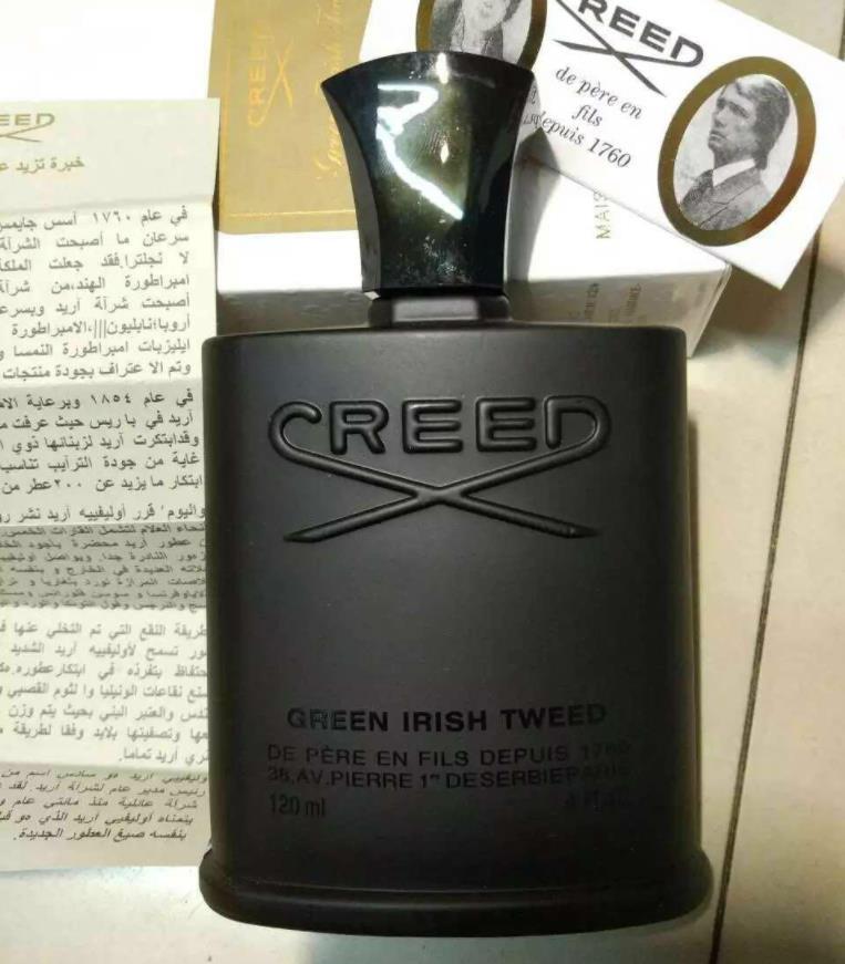 Hot homens perfume Selling colônia preto tweed Creed Irish 120ml Creed verde com frete grátis alta guality