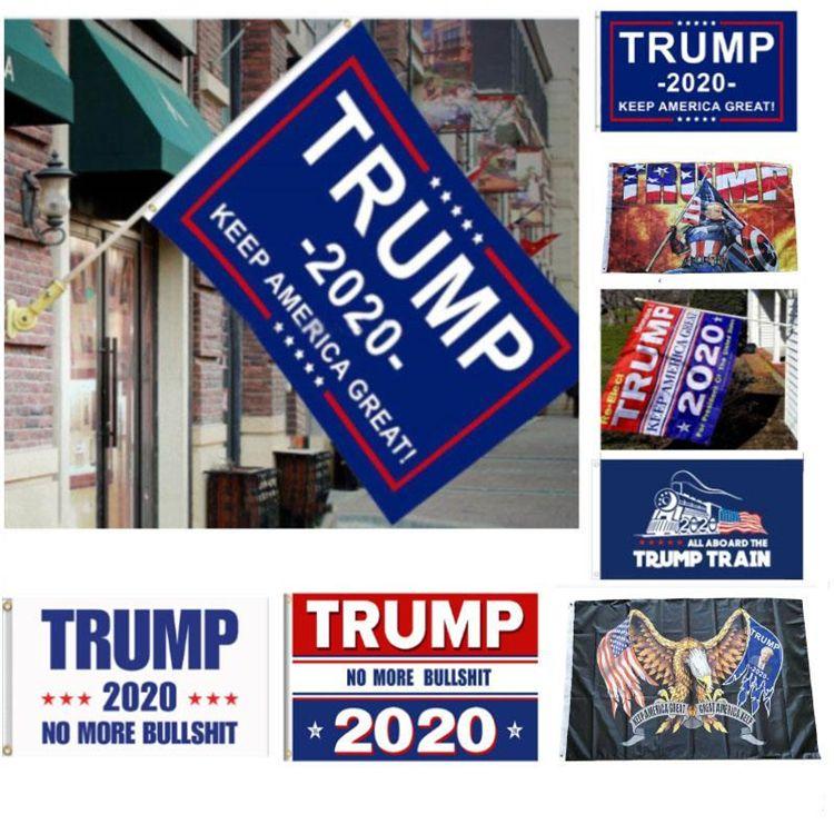 12 Styles Trump 2020 Drapeau Donald Trump Drapeau Keep America Great Donald pour le président Bannière de la campagne 90 * 150cm Drapeaux Jardin HN292