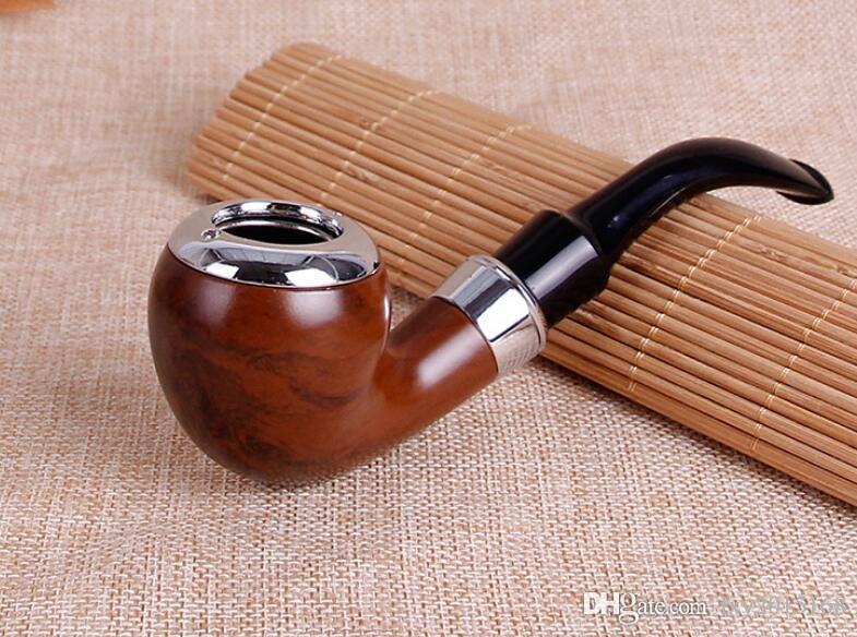 Classic Curved Resine Tuyau en bois Couleur Couleur Filtre Couleur Couleur Boîte D'emballage Accessoires de tabac Vente en gros