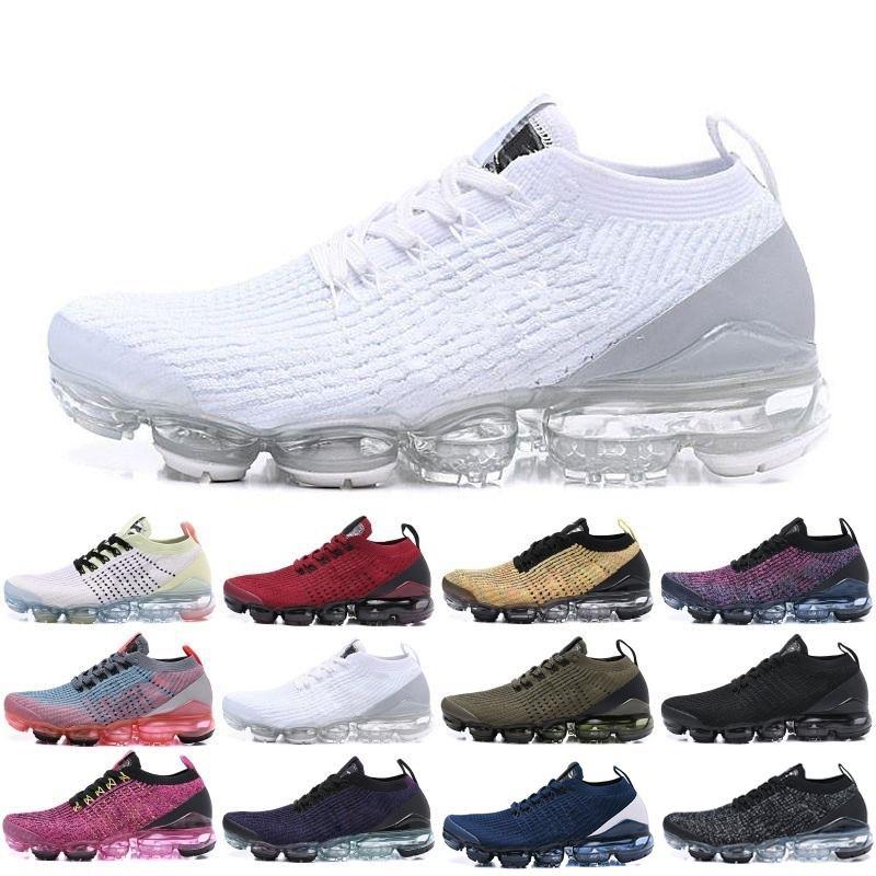 2019 Sconto Vapors Knit 3.0 nero bianco blu Flagship Sport Scarpe da corsa uomo donna Vapores Air cushion Jogging Walking Sneakers 36-45