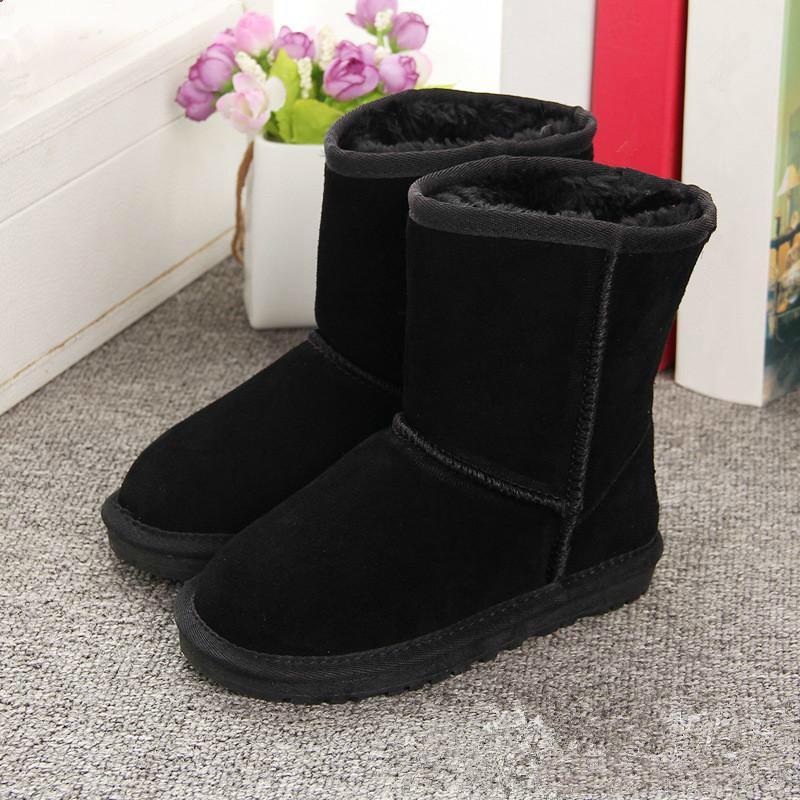 Moda bambini s stivali ragazze neve ragazza bambini stivali invernali stivali di pelliccia pelle scarpe calde Grandezze EUR 21-35