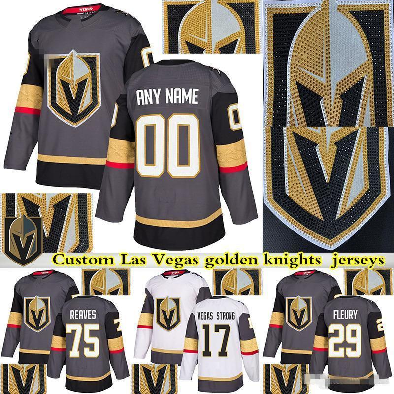 Vegas Golden Knights maillot forage Hot 29 Marc Andre Fleury 61 Mark Ston 71 William Karlsson Personnaliser un nombre tout chandail de hockey de nom