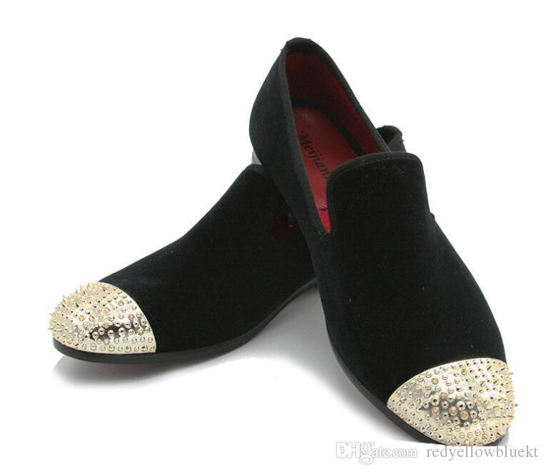 Новый стиль черный и фиолетовый бархат ручной работы мокасины ну вечеринку свадебное платье обувь мужские квартиры Masculino