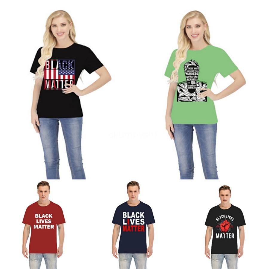 Negro Materia Vidas! 2020 Summer camisetas para los hombres Cartas camisetas del diseñador de lujo Manga corta Camiseta para hombre de algodón ocasional de la camiseta # 32059