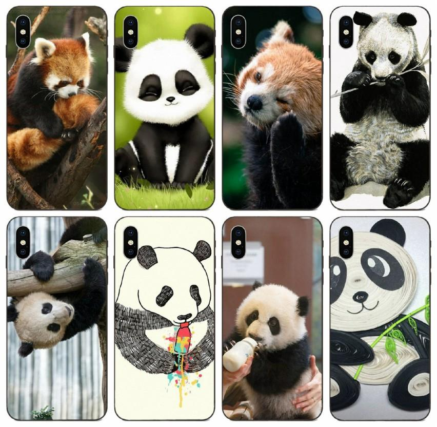 [TongTrade] Panda Make A Face Lovely Case For iPhone X XR XS 11 Pro Max 8 7 6s 5s Plus Galaxy A8 Plus Huawei Nova 5T Sony Xperia T3 Hot Case
