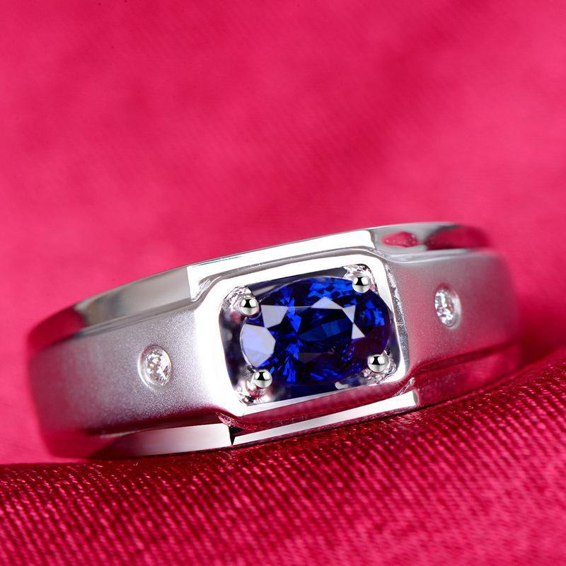 Mulher Silver Ring Drip Dia forma de anel anel azul chapeamento White Gold: War In Paradise Prata Acessórios