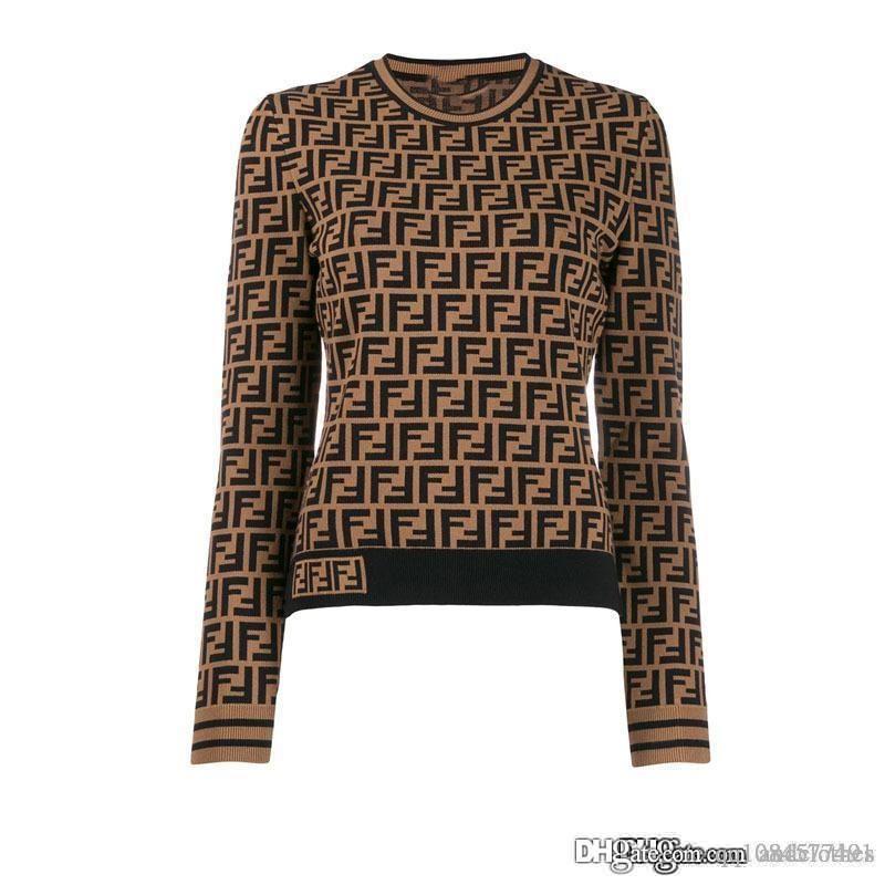 invierno de las mujeres de lujo de las mujeres suéteres de diseño del otoño usa de manga larga camiseta de hip hop ropa de abrigo ropa casual suéter M-L