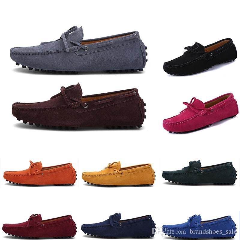 2020 nuevos hombres zapatos casuales alpargatas de alta calidad suaves amarillos triples negro gris verde para hombre la zapatilla de deporte al aire libre caminando al por mayor envío