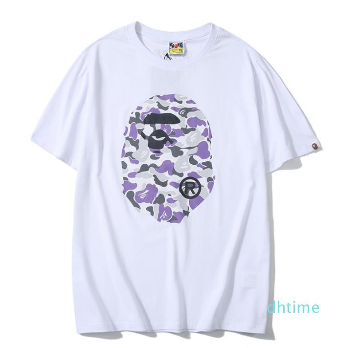 Homem verão Imprimir Casual manga curta Men S T -Shirt Top Men Qualidade e mulher Camiseta Casal Casual