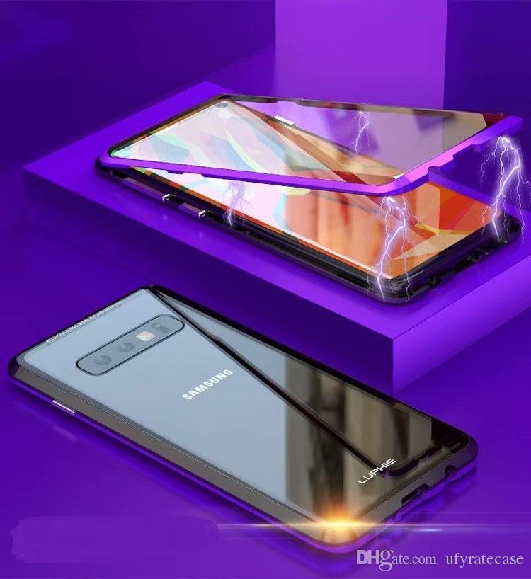 Luphie Магнитная Адсорбция 360 Полный Закаленное Стекло Флип Чехол Для Samsung Galaxy S10 S10 Plus S10e