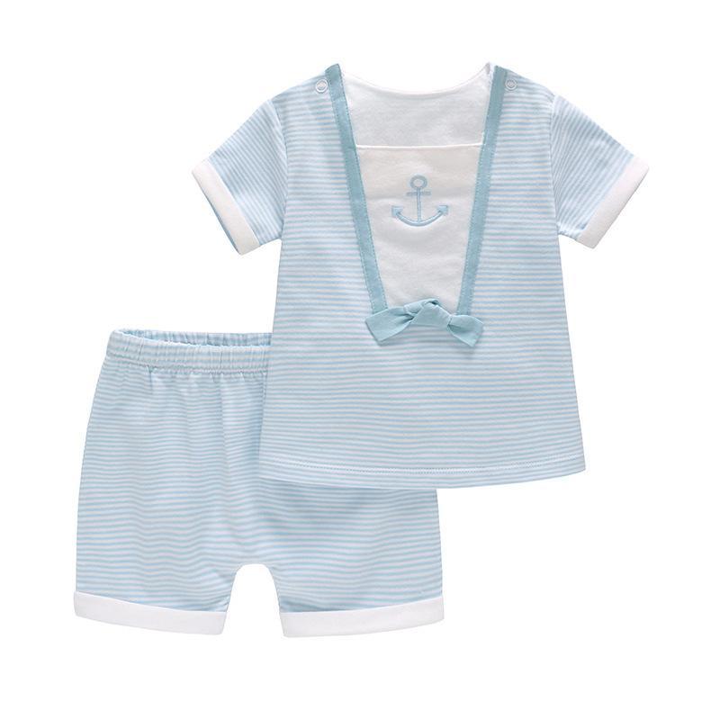 Vlinder Baby Boy Roupa recém-nascido roupas de bebê T-shirt Curto definir Snug Suit mangas curtas algodão infantil T200706 conjunto do laço T-shirt bonito