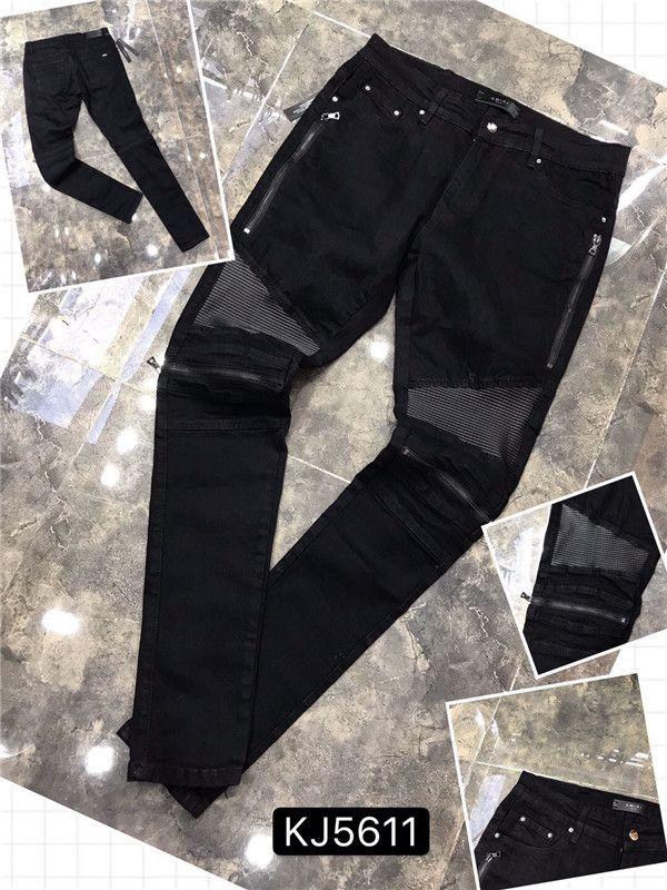 2020 Yeni Hip Hop Erkek Jeans Katı Klasik Stil Moda Düz Tüp 36 Fit Bisiklet Blue Jeans için Pantolon İmitasyon Eski Kot Boyutu 28-40 H5